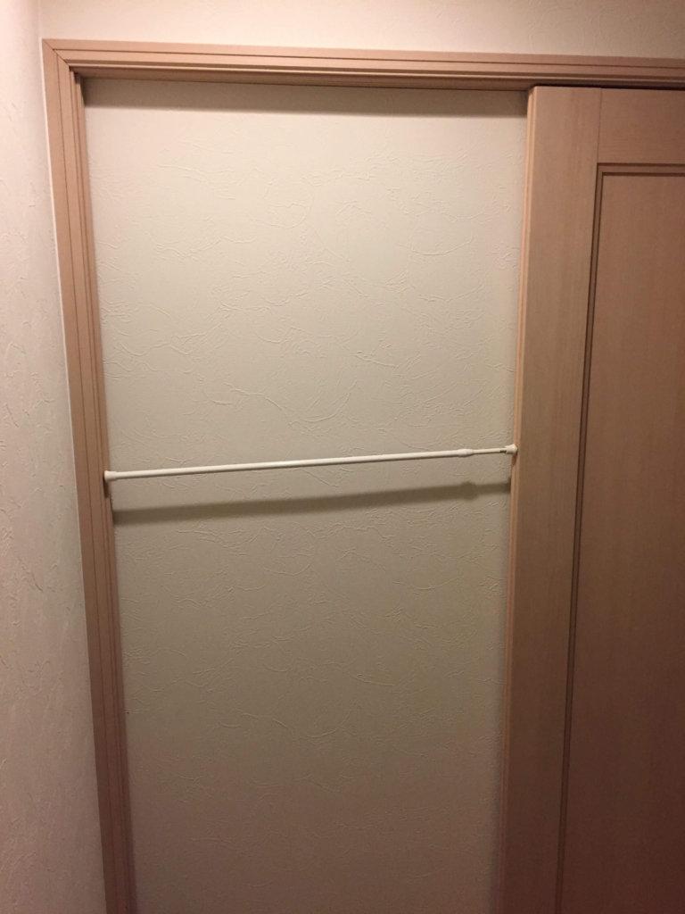 ドアつっかえ棒横